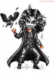 The Crow Chibi Commission by monstee