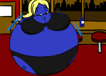 Natalya and her blueberry wine by Dimensional-Expander