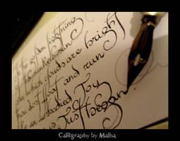 Calligraphy by Malha