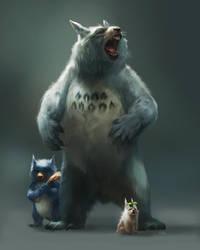 Totoro by kepperoni