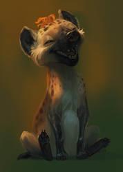 Hyena Sketch by kepperoni