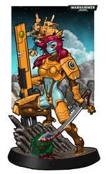 Tau Female Firewarrior by kaaskop
