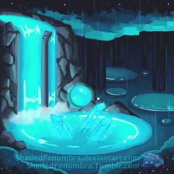 Rain Pond by ShadedPenumbra
