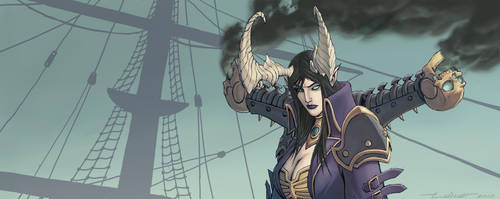 Pirate Queen Skarre by warp-zero