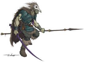 Half-Orc Druid by warp-zero