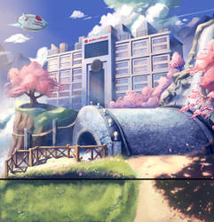 .: Backdrop for Saito College :. by Hikari151