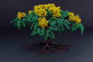 Jamaica themed wire tree of life sculpture by Twystedroots