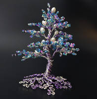 'Daydream' bead and wire tree of life by Twystedroots