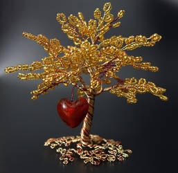 Happiness - bead and wire tree of life by Twystedroots