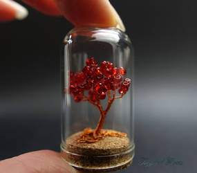 Mini tree red by Twystedroots