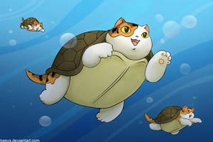 turtlecats by keevs