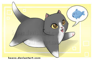 Kitty Fish by keevs