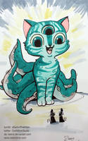 Octopus Kitty by keevs