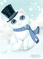 Frosty the Snowkitty by keevs
