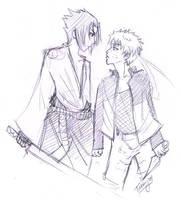 Sasunaru sketch by Strayfish