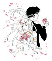Kyu and Ariana - Lilies by Strayfish