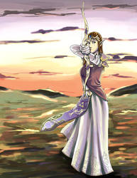 Zelda In The Twilight by Strayfish