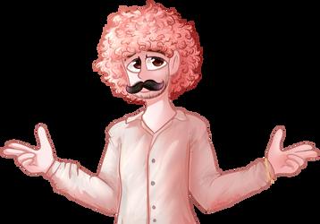 A pink warfstache | Fan art by Fawnuss