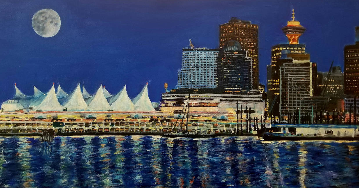 Vancouver at night by Dennis64