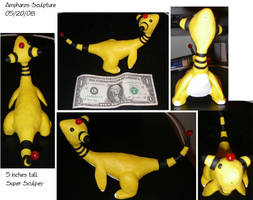 Ampharos Sculpture by DarkFeather