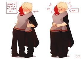 hogwarts kiribaku by poikas