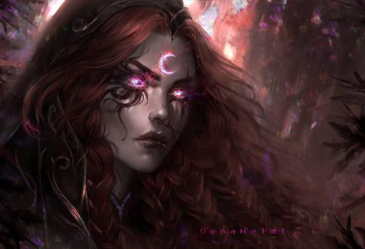 moon worshiper witch by DenaHelmi