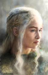 Daenerys portrait Alexandros Korakis by alexkorakis