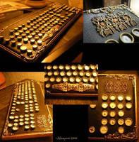 Steampunk Keyboard Mod by Abayomi