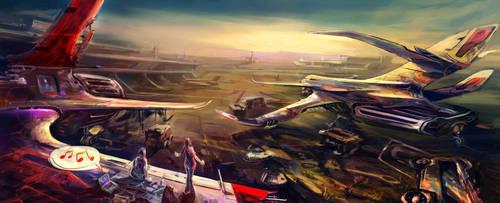 airport by glaaarg