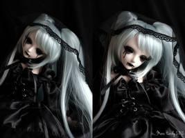 Miku Hatsune gothic BJD by Bounty-Cyrus