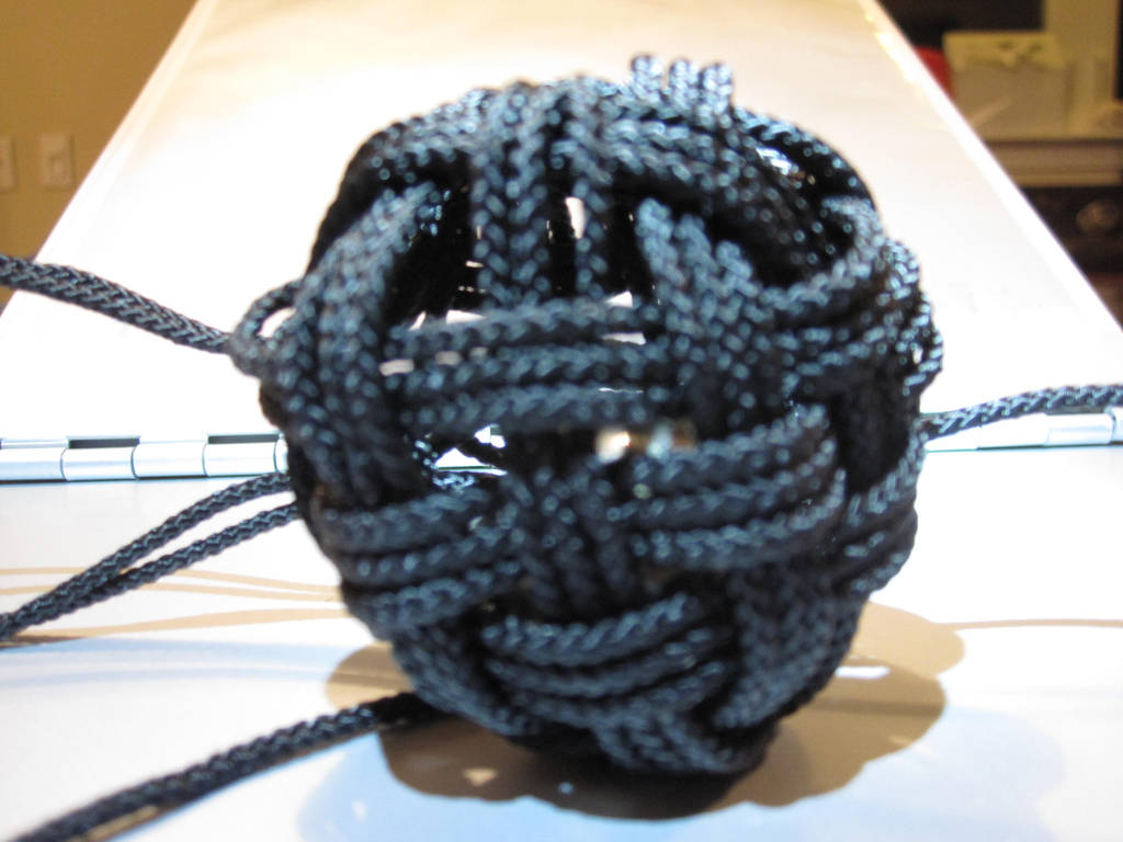 45 Face Globe Knot, Unfinished by demuredemeanor
