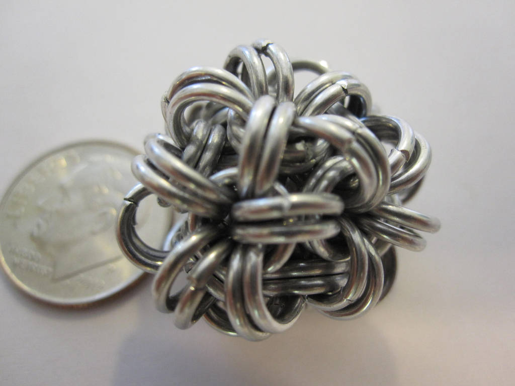 Small Chainmail Ball by demuredemeanor