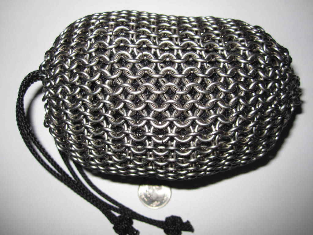 Chainmail pouch, full by demuredemeanor