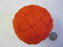 45 Face Globe knot, Large and Orange by demuredemeanor