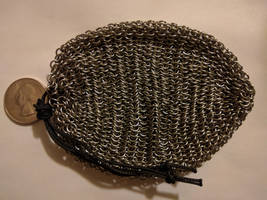 Chainmail pouch - Small links, full size, empty by demuredemeanor
