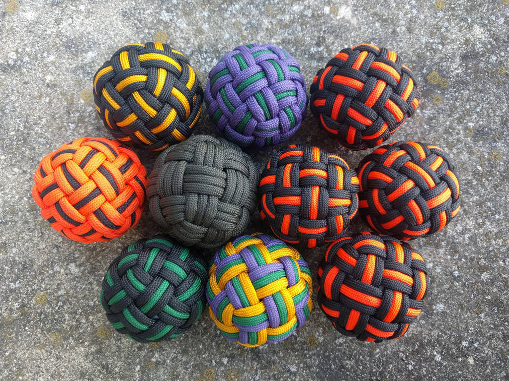 45 Face Globe knot, three passes, hand sized by demuredemeanor