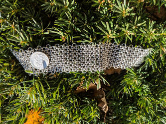Doubled Honey Comb Bracelet / Choker - 20ga SS by demuredemeanor