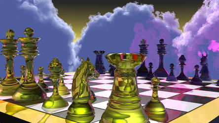 Yet Another Chess Render by b3lz3bu