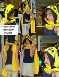 Durarara Celty Hoodie Scarf by MsPepperPotts