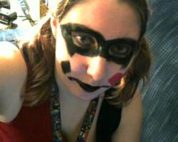 my halloween harley quinn makeup =) by imaginaryfriend6