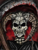 Horned Grim Reaper by Ruth-Tay