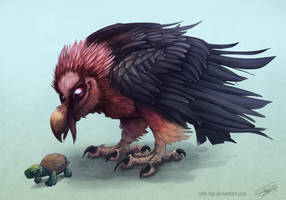 Bearded Vulture by Ruth-Tay
