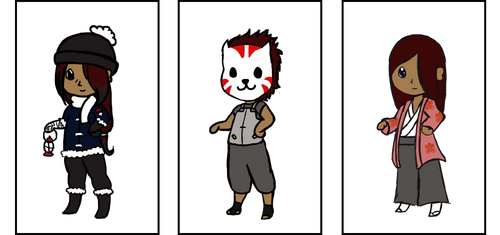 Outfits of Itazura by ShinobiParadise