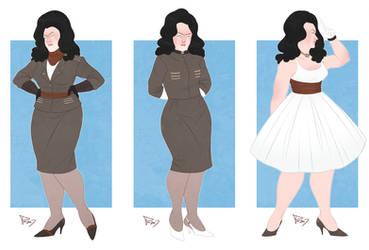 Winter's Howl dresses by PrincessD-Bag