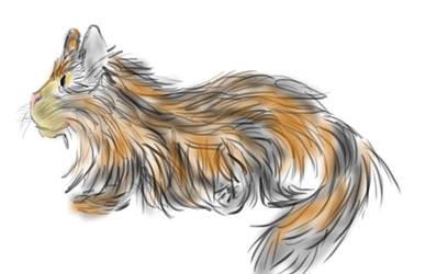 Tablet cat by KaraCrane