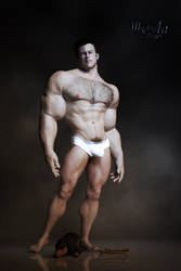 First Test with a muscle Man by Mysticartdesign