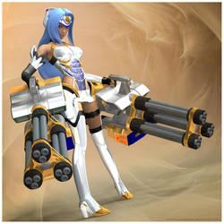 Gnosis Combat Android: KOS-MOS by Lokai2000