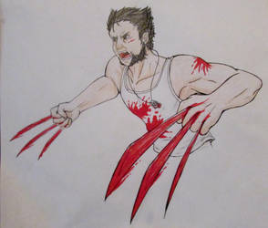 Just a logan (too much blood on the claws) by AnfelMeva