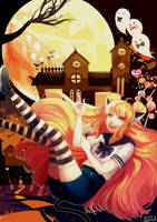 The Striped Socks Tell A Tale of Trick or Treat by Nagifry