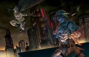 The Dark Knight VS Techwatch by Luis-Guerrero